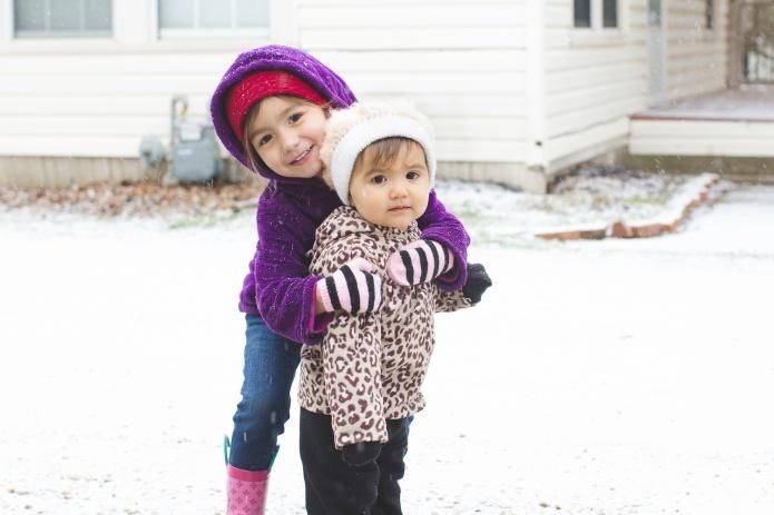 Lyla & Paisley snow-3
